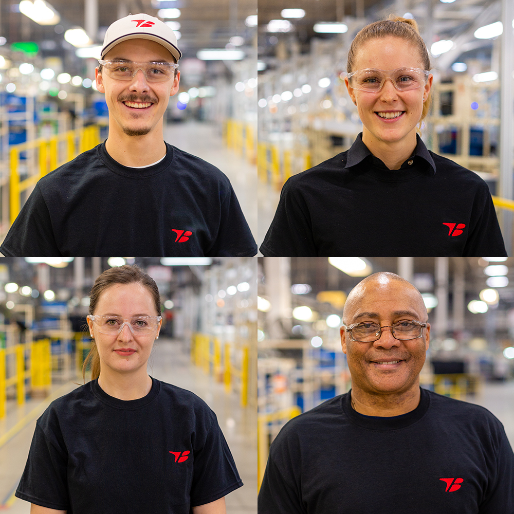 smiling employees at toyota boshoku
